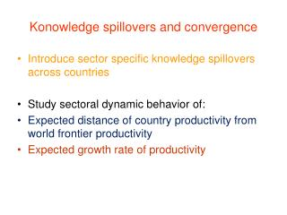 Konowledge spillovers and convergence
