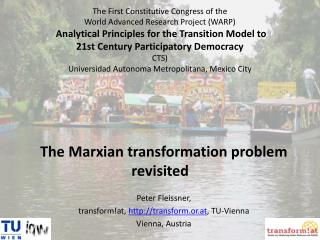 The Marxian transformation problem revisited  Peter Fleissner,