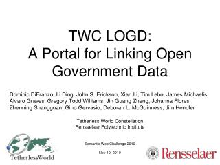 TWC LOGD:  A Portal for Linking Open Government Data