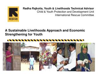 A Sustainable Livelihoods Approach and Economic Strengthening for Youth