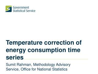 Temperature correction of energy consumption time series