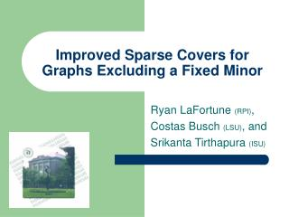 Improved Sparse Covers for Graphs Excluding a Fixed Minor