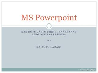 MS Powerpoint