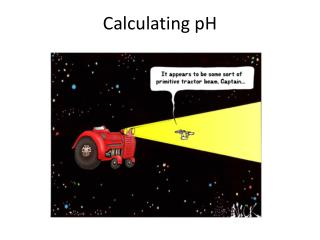 Calculating pH