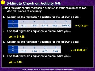 5-Minute Check on Activity 5-9