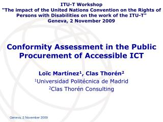 Conformity Assessment in the Public Procurement of Accessible ICT