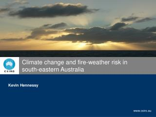 Climate change and fire-weather risk in       south-eastern Australia