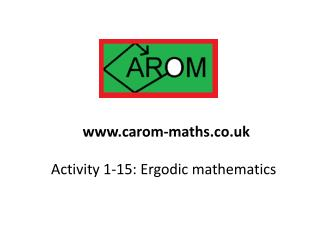 Activity 1-15: Ergodic mathematics