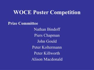 WOCE Poster Competition