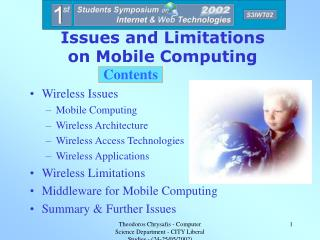 Issues and Limitations  on Mobile Computing
