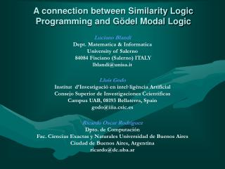A connection between Similarity Logic Programming and Gödel Modal Logic