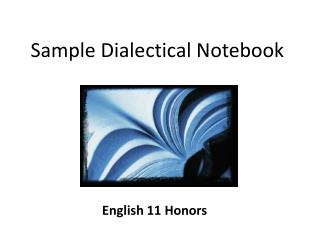 Sample Dialectical Notebook