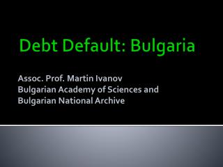 Debt Default: Bulgaria