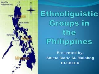 Ethnoliguistic Groups in the  Philippines