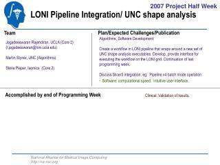 LONI Pipeline Integration/ UNC shape analysis