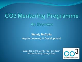 CO3 Mentoring Programme An Overview
