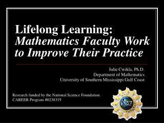 Lifelong Learning: Mathematics Faculty Work to Improve Their Practice