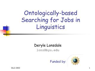 Ontologically-based Searching for Jobs in Linguistics