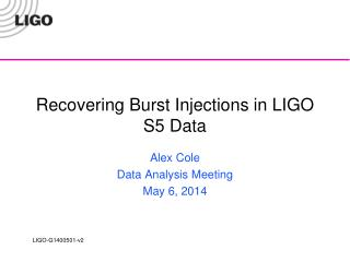 Recovering Burst Injections in LIGO S5 Data