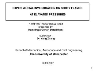 EXPERIMENTAL INVESTIGATION ON SOOTY FLAMES  AT ELAVATED PRESSURES