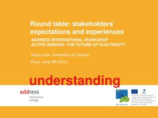 Round table: stakeholders' expectations and experiences