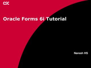 Oracle Forms 6i Tutorial