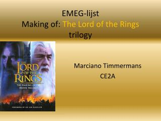 EMEG-lijst Making  of:  The Lord of the  Rings trilogy