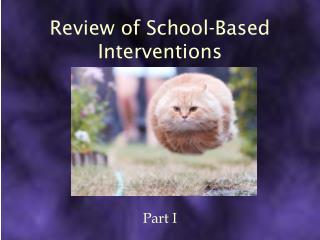 Review of School-Based Interventions