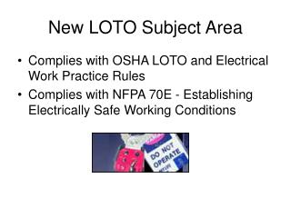 New LOTO Subject Area