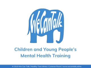The Development of the Graduate Primary Mental Health Worker in CAMHS