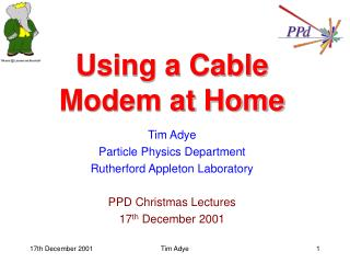 Using a Cable Modem at Home
