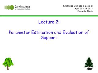 Lecture 2: Parameter Estimation and Evaluation of Support