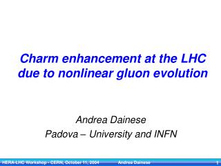Charm enhancement at the LHC due to nonlinear gluon evolution