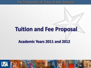 Tuition and Fee Proposal