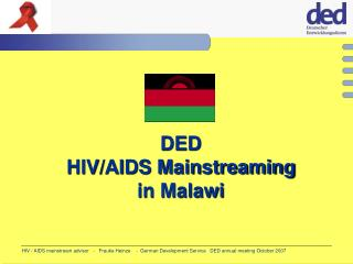 DED HIV/AIDS Mainstreaming  in Malawi
