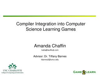Compiler Integration into Computer Science Learning Games