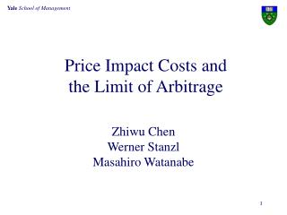 Price Impact Costs and  the Limit of Arbitrage