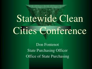 Statewide Clean Cities Conference