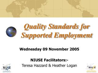 Quality Standards for Supported Employment