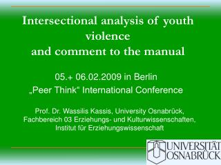 Intersectional analysis of youth violence and comment to the manual