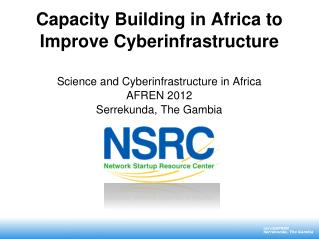NSRC capacity building in Africa
