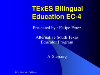 TExES Bilingual Education EC-4