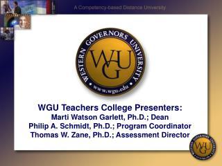Western Governors University Beginnings….