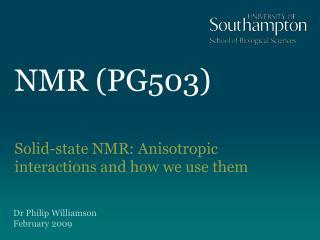 NMR (PG503)