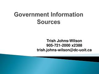 Government Information Sources