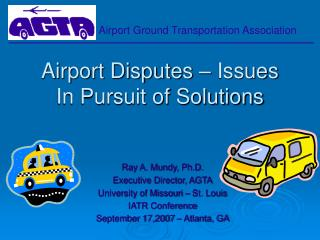 Airport Disputes   Issues  In Pursuit of Solutions