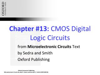 Chapter #13:  CMOS Digital Logic Circuits