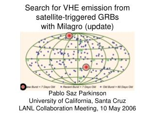 Search for VHE emission from  satellite-triggered GRBs with Milagro (update)