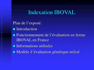Indexation IBOVAL