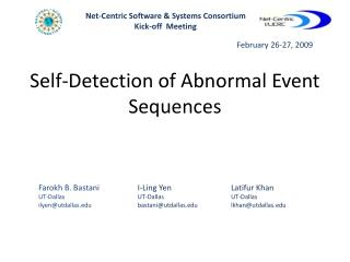 Self-Detection of Abnormal Event Sequences